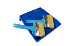 Dwa muśnięcia dla malować w błękitnym skąpaniu Fotografia Royalty Free