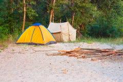 Dwa namiotu Zdjęcia Stock