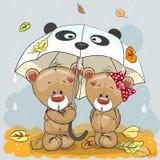 dwa niedźwiedzie royalty ilustracja