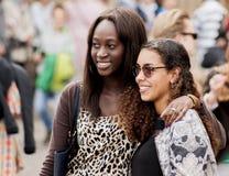 Dwa niezidentyfikowanej seksownej Afrykańskiej kobiety Zdjęcia Royalty Free