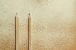 dwa ołówki Zdjęcie Stock
