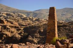 Dwa obelisku, Petra Obrazy Stock