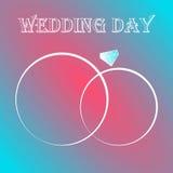 Dwa obrączek ślubnych zaproszenia karta ilustracja wektor