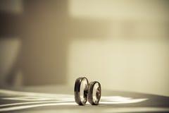 Dwa obrączki ślubnej Zdjęcie Royalty Free