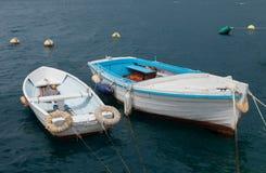 Dwa łodzi i falistego morze Obraz Stock