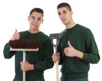 Dwa ogrodniczki Zdjęcie Royalty Free