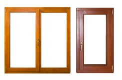 dwa okna Obrazy Royalty Free