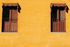 dwa okno Zdjęcia Stock
