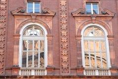 Dwa okno z cieniami i dwa Zdjęcia Royalty Free