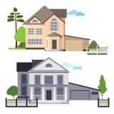 Dwa opci dom na wsi Zdjęcie Royalty Free