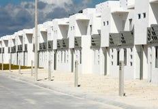 Dwa opowieści Miastowy budynek mieszkalny w Meksyk Obrazy Stock