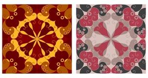Dwa ornamentacyjnego tła Fotografia Stock
