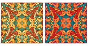 Dwa ornamentacyjnego tła Fotografia Royalty Free