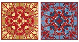Dwa ornamentacyjnego tła ilustracja wektor