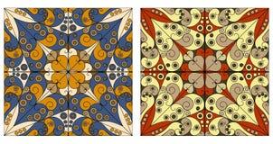 Dwa ornamentacyjnego tła ilustracji