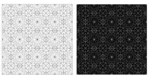 Dwa ornamentacyjnego wzoru ilustracja wektor