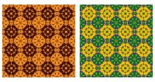 Dwa ornamentacyjnego wzoru ilustracji