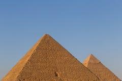 Dwa ostrosłupa w Giza Obrazy Royalty Free