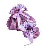 Dwa otwartej torby purpurowej Obrazy Stock