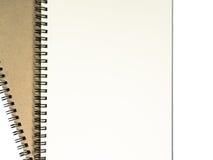 Dwa otwarty notatnik z białą stroną Fotografia Stock