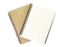 Dwa otwarty notatnik z białą stroną na białym tle Obrazy Royalty Free