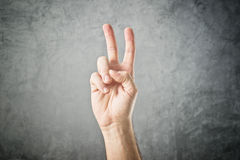 Dwa palca w powietrzu Obrazy Royalty Free