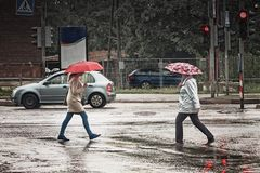 Dwa parasola W skrzyżowaniu Fotografia Stock