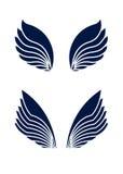 Dwa pary dekoracyjni wektorów skrzydła odizolowywający na bielu Obrazy Stock
