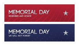 Dwa patriotycznego sieć sztandaru dla dnia pamięci royalty ilustracja