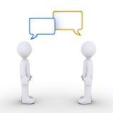 Dwa persons komunikują ilustracja wektor