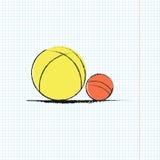 Dwa piłki Obraz Stock