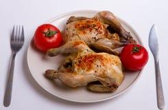 Dwa Pieczony kurczak Zdjęcie Royalty Free