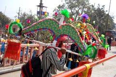 Dwa pielgrzyma przy Ardh Kumbh Mela 2016 Fotografia Stock