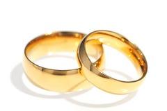 Dwa pierścionku Zdjęcia Royalty Free