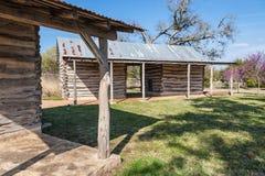 Dwa pionierskiego rolnego budynku Zdjęcia Stock