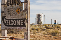 Dwa pistoletów miasto widmo wzdłuż trasy 66 Zdjęcia Royalty Free