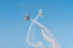 Dwa Pitts dodatku specjalnego samolot Obraz Royalty Free