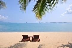 Dwa Plażowego krzesła obrazy royalty free