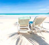 Dwa plażowego krzesła zdjęcia royalty free
