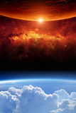 Dwa planety obraz royalty free