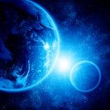Dwa planety w przestrzeni royalty ilustracja