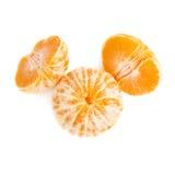 Dwa połówki anh tangerine całej świeżej soczystej owoc Zdjęcie Royalty Free
