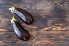 Dwa połówki aubergine obrazy stock