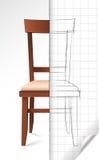 Krzesła nakreślenie Zdjęcie Royalty Free
