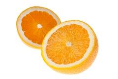 Dwa połówki pomarańcze Fotografia Stock