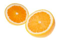 Dwa połówki pomarańcze Obrazy Royalty Free