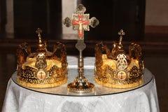Dwa Poślubiają korony Obraz Royalty Free