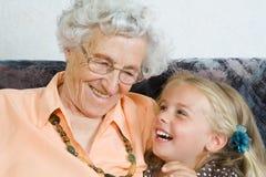 dwa pokolenia Zdjęcia Royalty Free