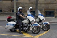 Dwa policja na motocyklach Zdjęcia Royalty Free