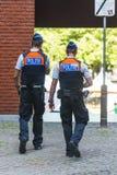 Dwa policjanta Obrazy Stock